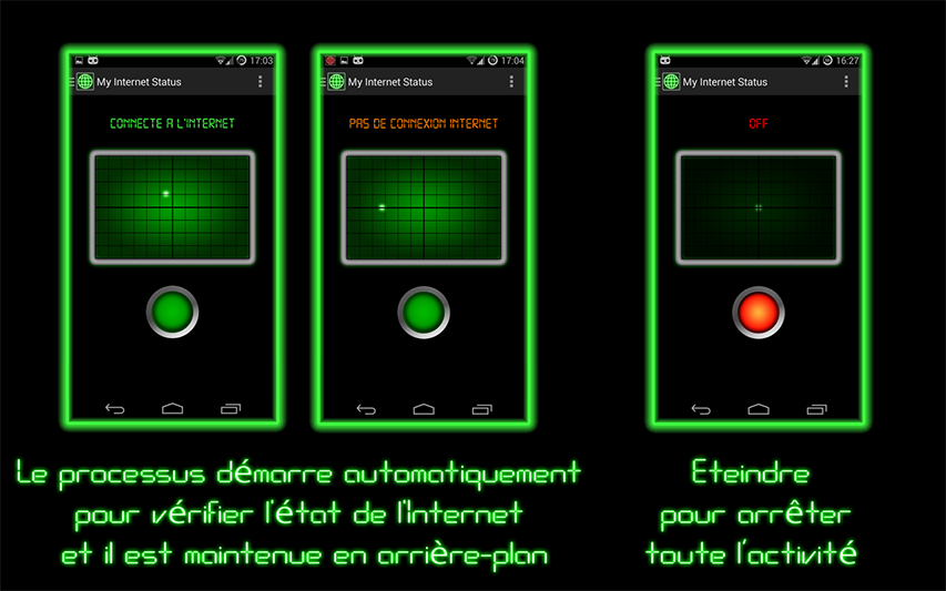 [APPLICATION ANDROID - M.I.S.S] My Internet StatuS : Notification d' État d'Internet [Gratuit] Screenshot2_EN